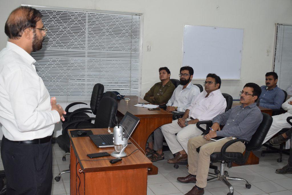 BPF - Mr. Abdul Razzaq Gohar during Class