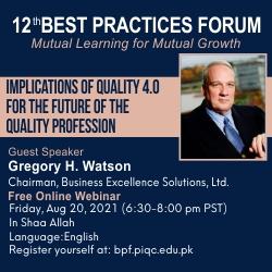 12th Best Practices Forum